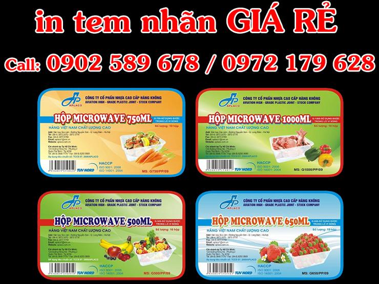 In tem nhãn giá rẻ tại Hà Nội